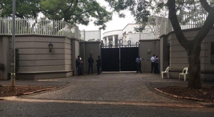 Raid underway at Gupta compound
