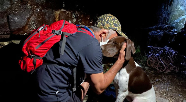 [IN PICS] Puppy reunited with owner after 3-hour mountain rescue mission