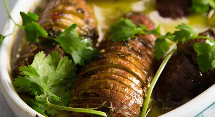 Braai sides: Coconut baked sweet potatoes