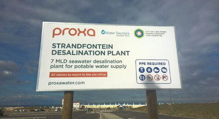 City of Cape Town halts water desalination process