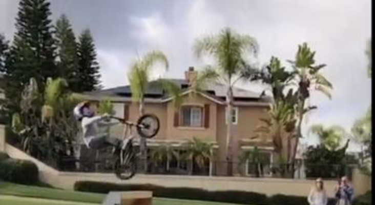 [WATCH] Kid completing an extreme backflip stunt has social media talking