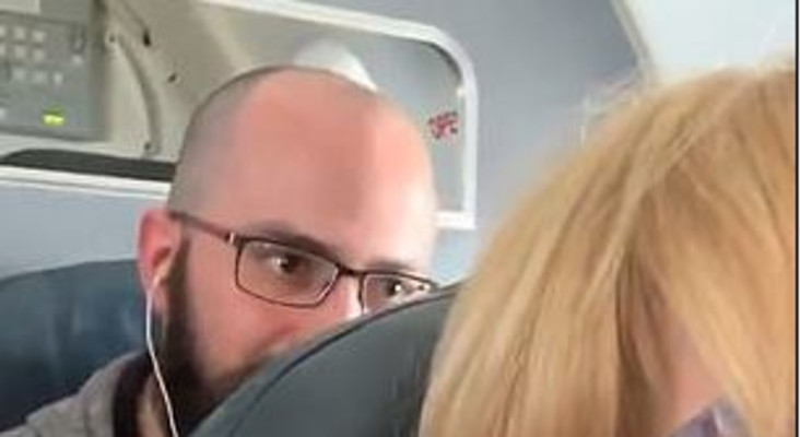 [WATCH] Passenger repeatedly hitting seat in plane has social media talking