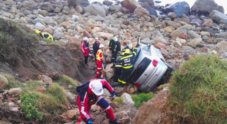 Man injured after crashing vehicle off Camps Bay cliff
