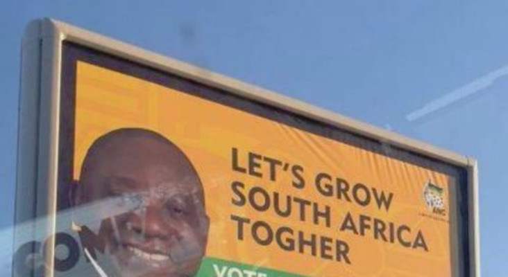 Giant ANC billboard with spelling error has social media in stitches