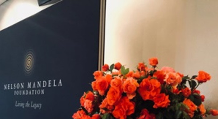 Splendid orange vermillion 'Nelson Mandela Rose' unveiled to mark his centenary