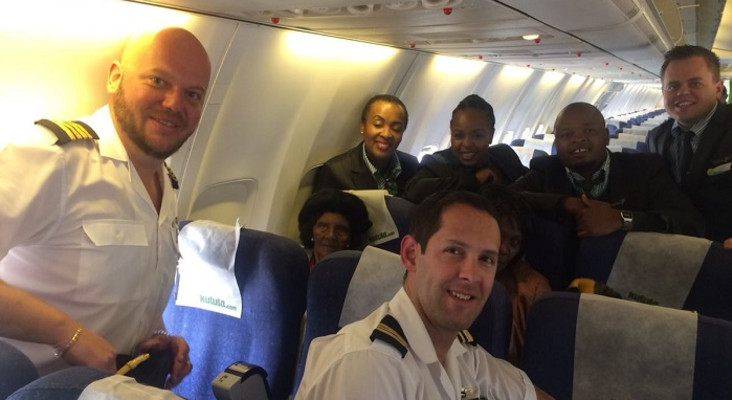 [LISTEN] Gogo (100) on cloud 9 as she flies for first time