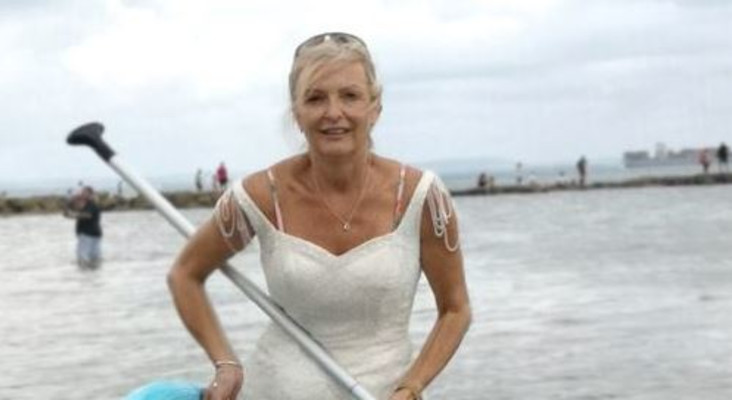 To get her money's worth, woman wears her wedding dress for entire year