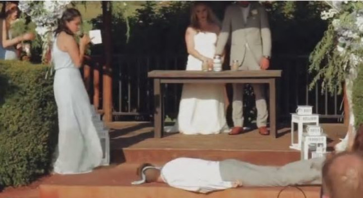 [WATCH] Best man accidentally steals the limelight by fainting mid-wedding