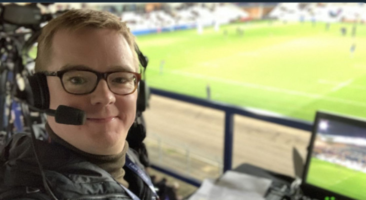Rugby commentator narrating play of people doing simple things goes viral