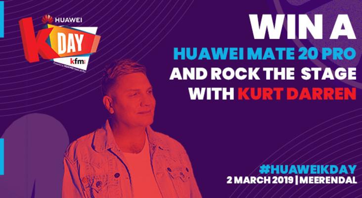 Sing Kaptein with Kurt Darren at Huawei KDay