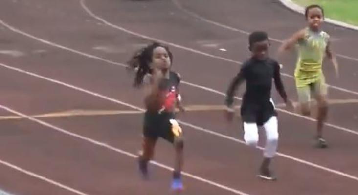 [WATCH] 7-year-old Rudolph 'Blaze' Ingram smashes race