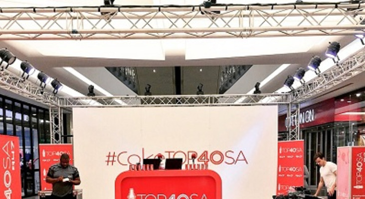 Coca-Cola Top 40 SA Live at Sandton City!