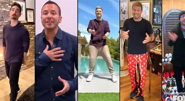 Backstreet Boys singing 'I want it that way' at different locations goes viral