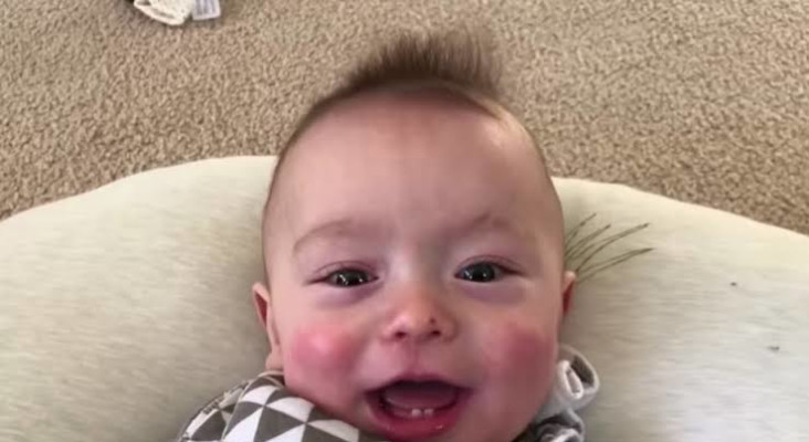 "Talented dad edits his baby son's noises into AC/DC's track ""Thunderstruck"""