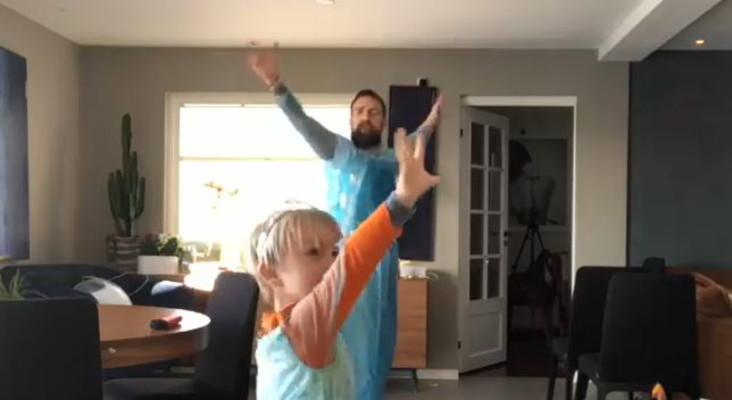 [WATCH] Father dresses up as Frozen's Elsa, dances with son to 'Let it Go'