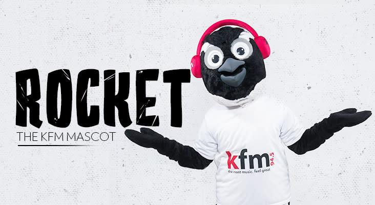 ROCKET THE KFM MASCOT