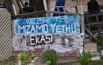 A sign welcoming visitors to Imizamo Yethu informal settlement in Hout Bay. Picture: Aletta Gardner/EWN