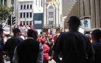 Shoprite workers embark on a strike on 22 December 2017. Picture: Cindy Archillies/EWN