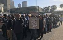 Kraaifontein residents residents march to the Western Cape High Court on 20 April 2018, during a protest for low-income housing. Picture: Monique Mortlock/EWN.