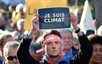 Demonstrators take part in a so-called Climate March against fossil-based energy like coal on 4 November 2017 in Bonn, western Germany. Picture: AFP