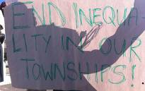 FILE: A group of people call for better living conditions on Mandela Day. Picture: EWN