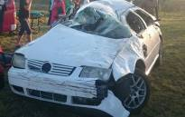 Woman killed, six others including children injured in vehicle rollover. Picture: Twitter: @ER24EMS