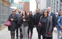 Sanef members arrive the Johannesburg High Court. Picture: Christa Eybers/EWN