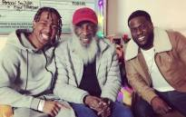 Nick Cannon, Dick Gregory and Kevin Hart. Picture: @kevinhart4real.