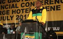 President Cyril Ramaphosa addresses the opening of the ANC Gauteng provincial conference in Irene, Pretoria. Picture: @GautengANC/Twitter.