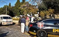 Taxi crash outside Westcliff Hotel. Picture: Twitter @EMER_G_MED.