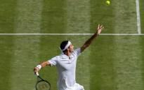 Roger Federer in action during his Wimbledon encounter against Ukrainian Alexandr Dolgopolov. Picture: Twitter/@Wimbledon