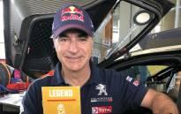 FILE: Peugeot driver Carlos Sainz. Picture: @CSainz_oficial/Twitter.