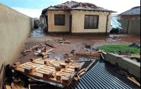 A home in Johannesburg following a hailstorm on 30 December 2017. Picture: Supplied