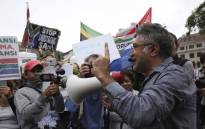 FILE: Activist Zackie Achmat (right) at a protest. Picture: Cindy Archillies/EWN