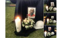 Pictures of some of the seven miners killed underground at the Sibanye-Stillwater's Masakhane shaft at a memorial service on 10 May 2018. Picture: Christa Eybers/EWN.