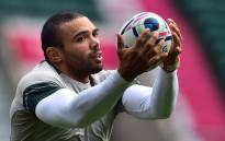 South Africas wing Bryan Habana catches the ball during the captains run at Twickenham Stadium, west of London, on October 23, 2015, on the eve of the teams 2015 Rugby Union World Cup semi-final match against New Zealand. AFP PHOTO / GABRIEL BOUYS