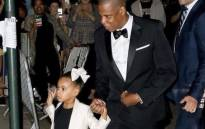 Rapper JayZ and his 5-year-old daughter Blue Ivy. Picture: Twitter/@blueivyreaction