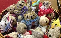FILE: Knitted comfort bears for child rape victims. Picture: Giovanna Gerbi/EWN