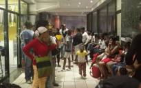 Angry parents queued at the Education Department in the Johannesburg CBD on 10 January 2017. Picture: Katleho Sekhotho/EWN