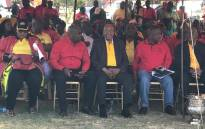 FILE: President Zuma seated alongside SACP, Sanco & Cosatu leaders at Cosatu's May Day rally in Bloemfontein on 1 May, 2017. Picture: Kgothatso Mogale/EWN.