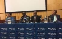 Sars commissioner Tom Moyane addressing the media in Pretoria on 24 February 2017. Picture: Clement Manyathela/EWN.