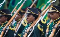 The Presendential Guard on parade at the SS Mendi memorial services in Durban. Picture: Thomas Holder/EWN