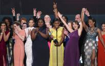The cast of Orange is the New Black at the SAG Awards. Picture: Mashable via Twitter