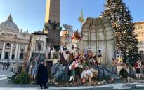 A general view of the Nativity scene in St Peter's Square. Picture: @sufishco/Twitter.