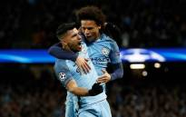 FILE: Manchester City's Sergio Aguero (front) and teammate Leroy Sane celebrate a goal. Picture: Facebook