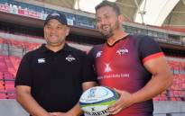 Southern Kings coach Deon Davids and captain Schalk Ferreira. Picture: @SouthernKingsSA/Twitter