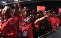 FILE: Cosatu members sing during the union federation's two-day Special National Congress in Midrand. Picture: Vumani Mkhize/EWN.
