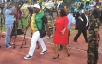 Nomvula Mokonyane arrives at ANCYL rally at the Germiston stadium on 4 April 2017. Picture: Masa Kekana/EWN