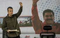 Venezuelan President Nicolas Maduro (not framed) and his vice-president Tareck El Aissami participate in a rally with workers of PDVSA state-owned oil company in Carcas 31 January, 2017. Picture: AFP