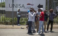 Students outside the Unisa Sunnyside campus. Picture: Ihsaan Haffejee/EWN.